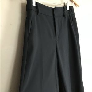Madewell black cropped wide leg pant